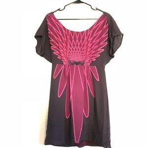 NWT Tibi purple pink 100% silk dress